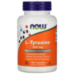 Now Foods, L-tyrosine, 500 мг, 120 капсул
